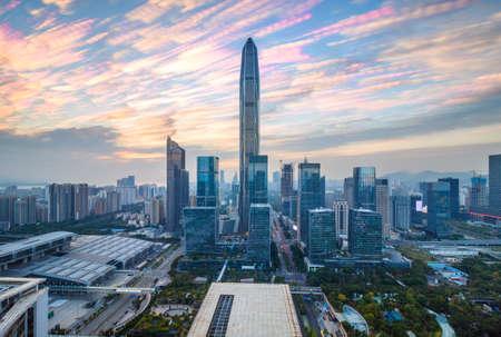 The twilight skyline of Shenzhen Reklamní fotografie