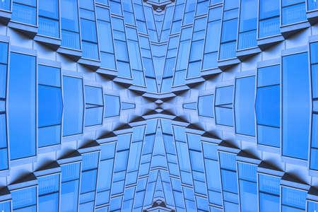 Symmetrical geometric figure beautiful glass window background material