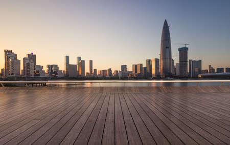 Shenzhen skyline and seashore Observatory