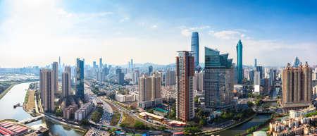 Shenzhen skyline panorama