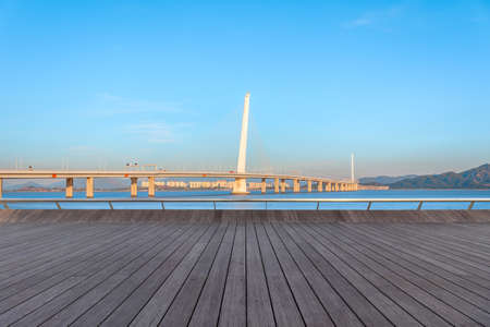 The Shenzhen Bay Bridge and the people floor