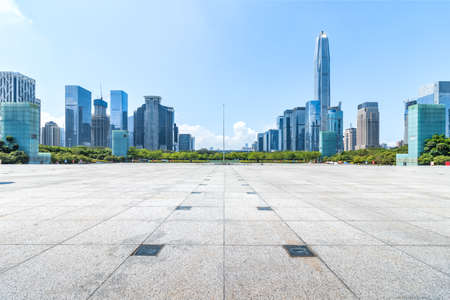 Shenzhen center skyline and square