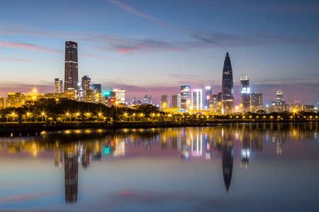 Shenzhen Houhai financial district at night