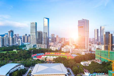The city scenery of Shenzhen technology park