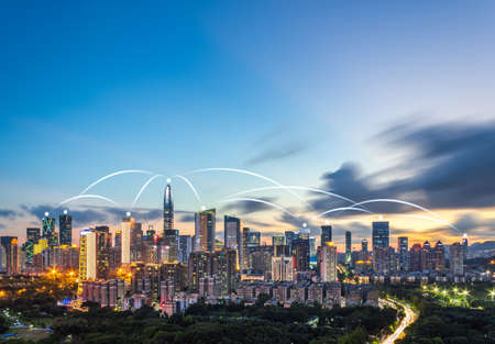The concept of city scenery and data network in Shenzhen