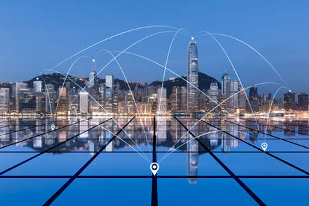 The concept of urban architecture and large data in Hongkong