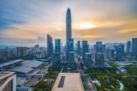 Skyline of Shenzhen Ping An financial center