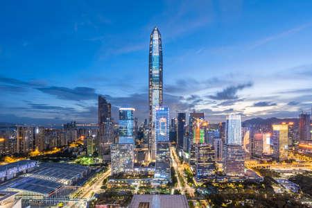 Shenzhen downtown skyline