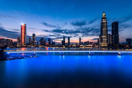 Shenzhen Houhai Financial District City Skyline