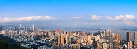 Panorama of Nanshan District, Shenzhen City, Guangdong Province