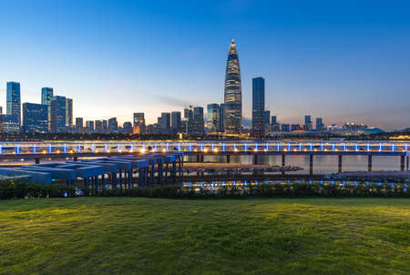 City Scenery of Shenzhen Bay Talent Park, Nanshan District, Shenzhen City, Guangdong Province Stock fotó