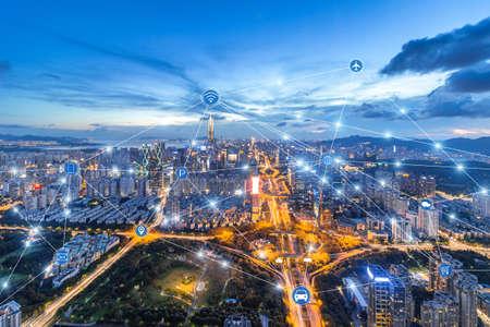 Shenzhen rapid development in the city, big data space