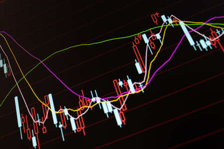 Stock financial securities market trading screen background