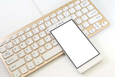 Phone and keyboard