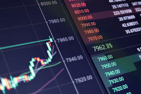 Background of stock financial market concept