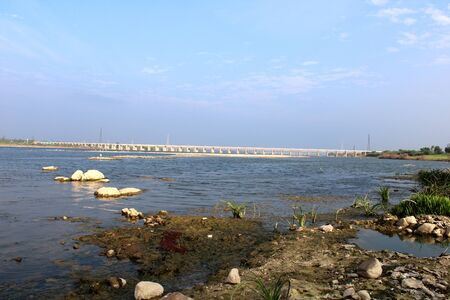 Backwater storage at Almatti dam, Vijayapura - Karnataka.