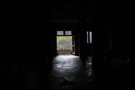 Ajanta, Maharashtra - 15 décembre 2019 : une vue intérieure du temple de la grotte d'Ajanta.
