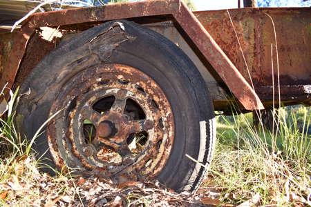 rusty: Rusty Trailer Stock Photo