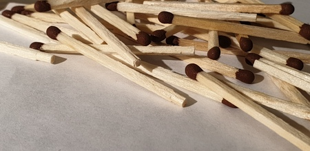 The Matches close up wood