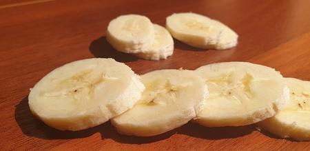 The Bananas close up. Fresh bananas