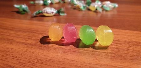 The Lollipops close up. Caramel