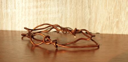 Copper wire close-up. Copper close-up Stockfoto