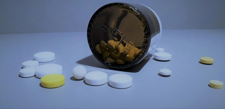 Close-up Medication. Pills closeup.medical drugs