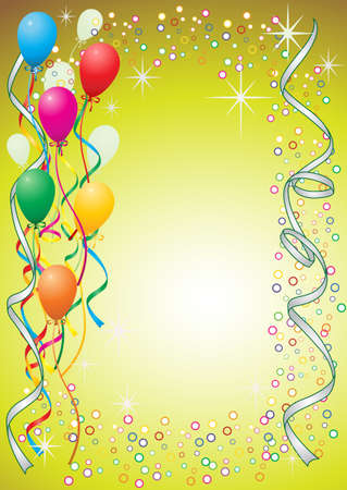 balloon border: Party balloons Illustration