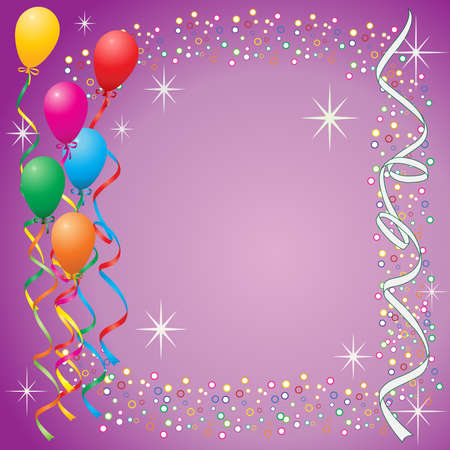 Party balloons Illustration
