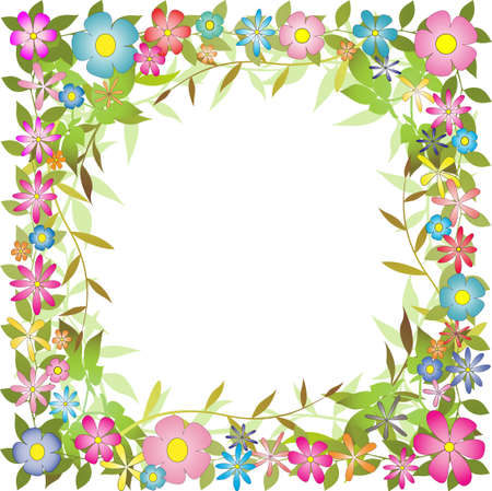 Floral border with flowers