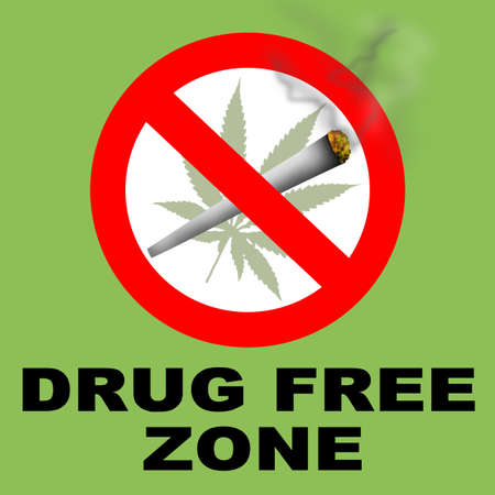 substance: Drug Free Zone Sign