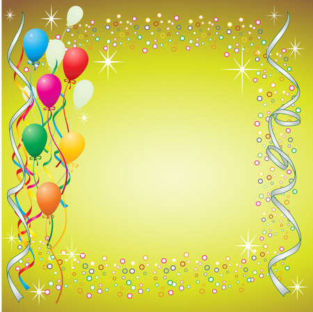 Balloon Background with Streamers Vector