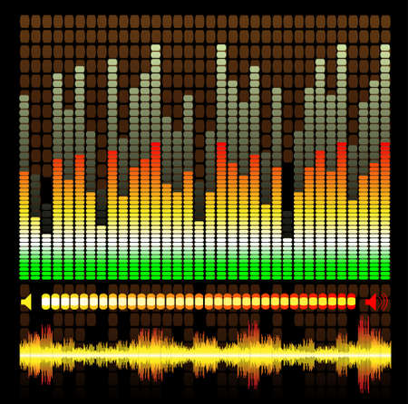 Music Equalizer Pattern Stock Vector - 3283130