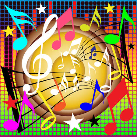 Musical Notes Background Stock Vector - 3283126