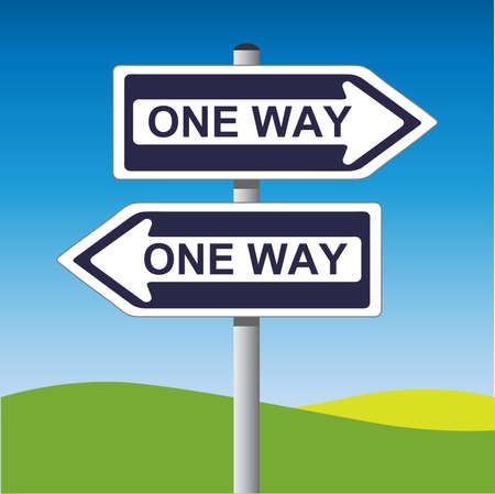 one way: One Way Sign