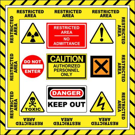 signos de precaucion: Se�ales de alerta  Vectores