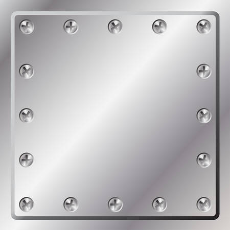 Metal Background with Screws Stock Vector - 3435253