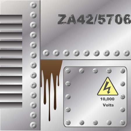 Industrial Metal Background Stock Vector - 3435257