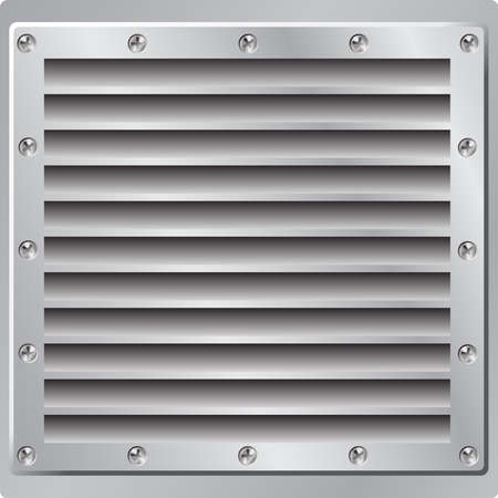 Metal Background Air Vent Stock Vector - 3435252