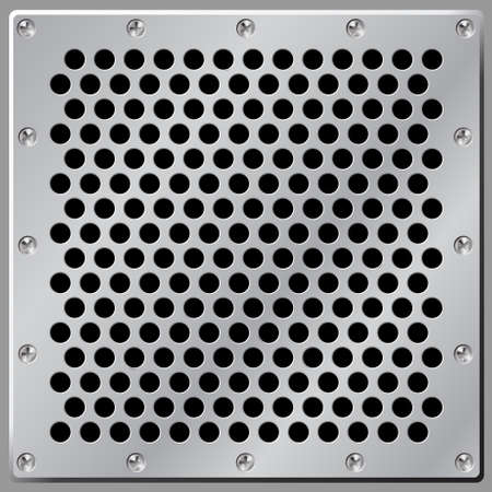 Metal Background Air Vent Stock Vector - 3435259