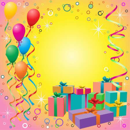 giveaway: Globos de fondo con cuerdas y cajas de regalo