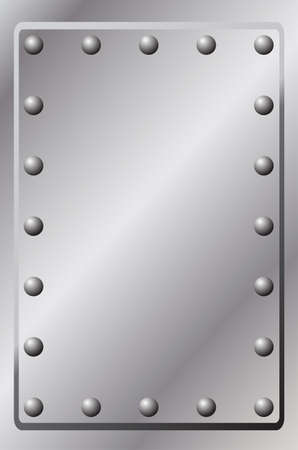 hardened: A Metal Background with Rivets Illustration