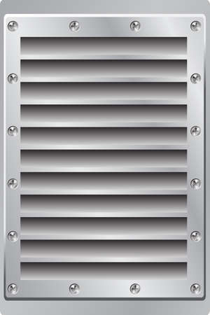 vent: A Metal Background Air Vent with Screws