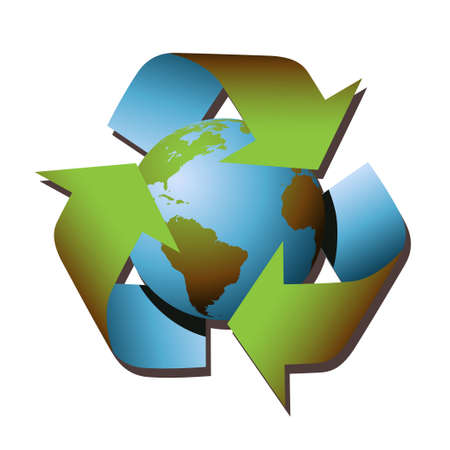 A Vector Recycle Symbol with Earth Stock Vector - 3719721