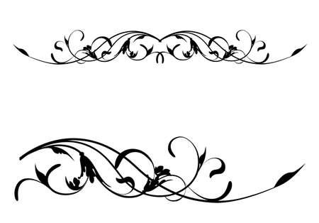 floral vector: Vector Retro Floral Scroll Pattern Illustration