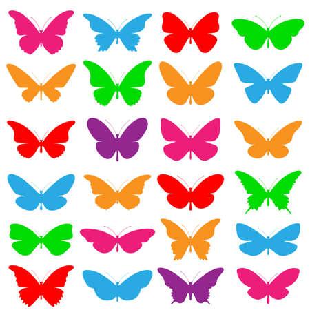 A Selection of Vector Butterflies Иллюстрация