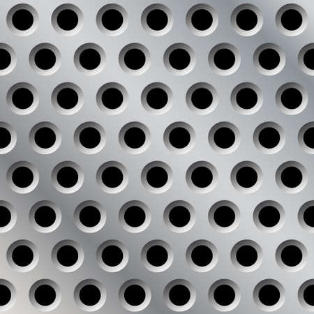 Abstract Metal Background Pattern with Holes Vector