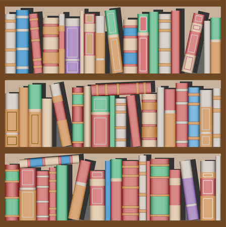 Lots of Books on Bookshelves Stock Vector - 4615960