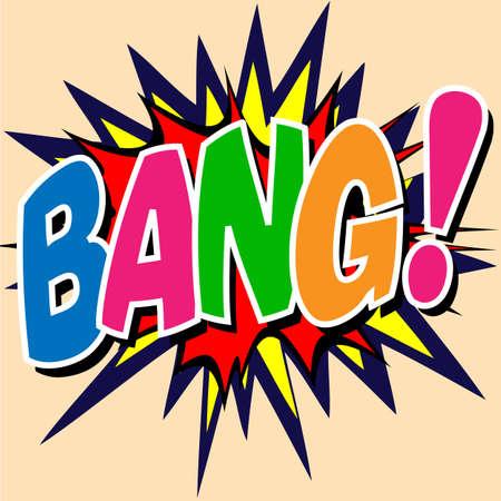 A Bang Comic Book Illustration