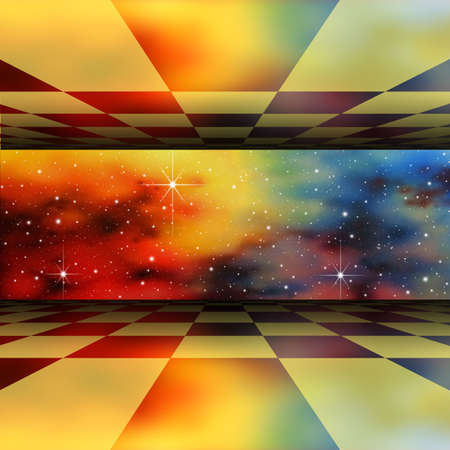 A Perspective Background with Star Field Stock Photo - 5268747